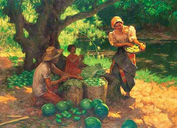 Fernando Amorsolo Under the Mango Tree