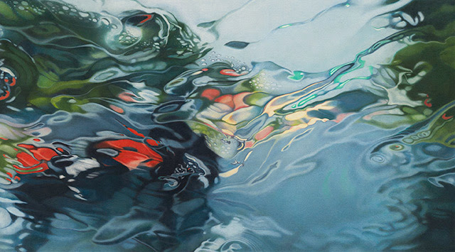 Rainscapes: Hyperrealistic Rainy Windshield Drawings by Elizabeth Patterson water rain landscapes hyperrealism drawing