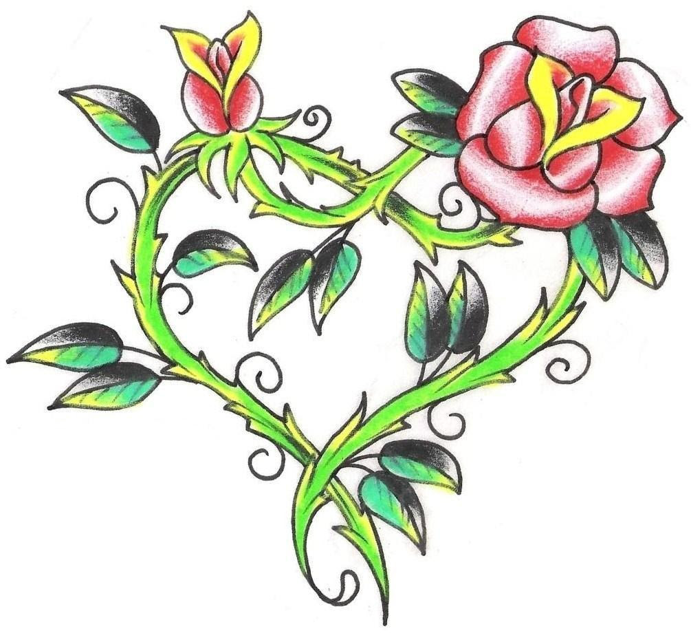 Free Flower And Star Tattoo Designs Download Free Clip Art Free