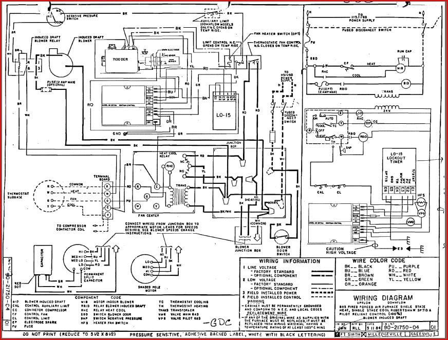rheem ac wiring diagram
