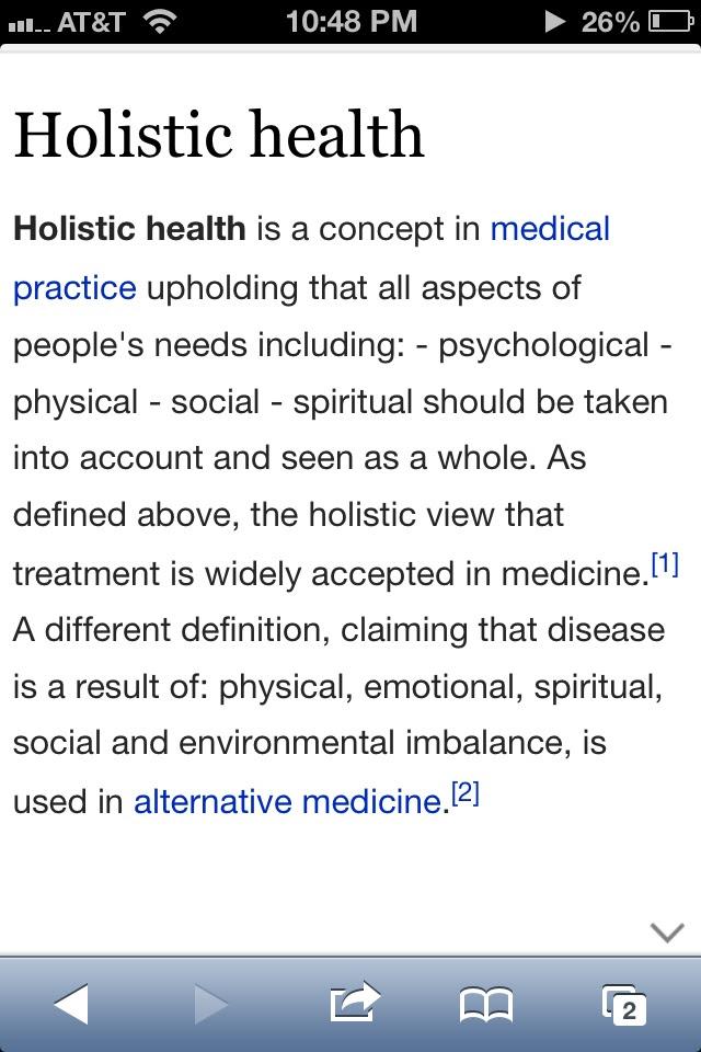 Holistic Health: Definition Of Holistic Health
