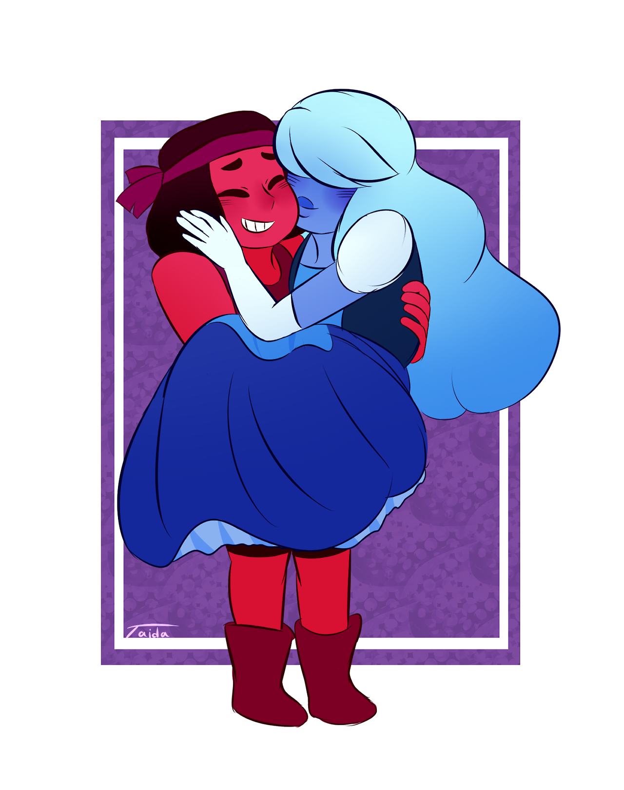 Ruby and Sapphire commission for my buddy @welcome-to-witchcraft !