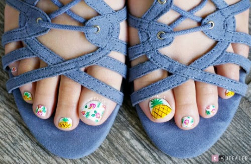 Pineapple Nail Designs: 90 Totally Fabulous Mani Ideas ...