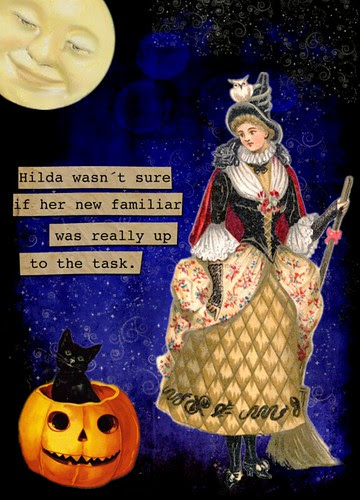 Hilda wasn´t sure -  Halloween ATC - Up for Trade