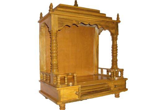 wooden pooja mandir altar open style