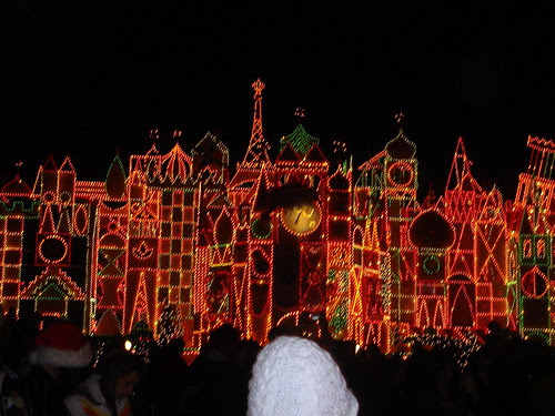 It's A Small World with holiday lights