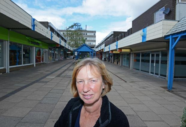 Information: Dr Mary Gill outside Elms Parade in Botley