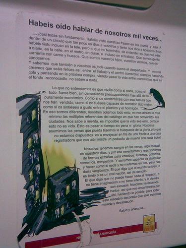 Imagen de Ni un día sin anarquía en el metro de Madrid