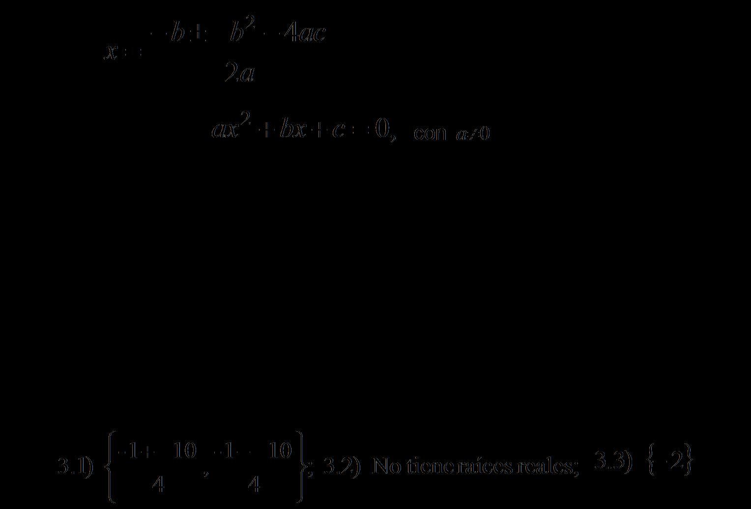 Formula Para Hacer Ecuaciones De Segundo Grado