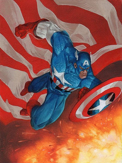 Captain America by Dave Dorman