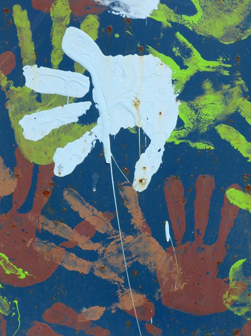 hand prints on dumpster, Juneau, Alaska