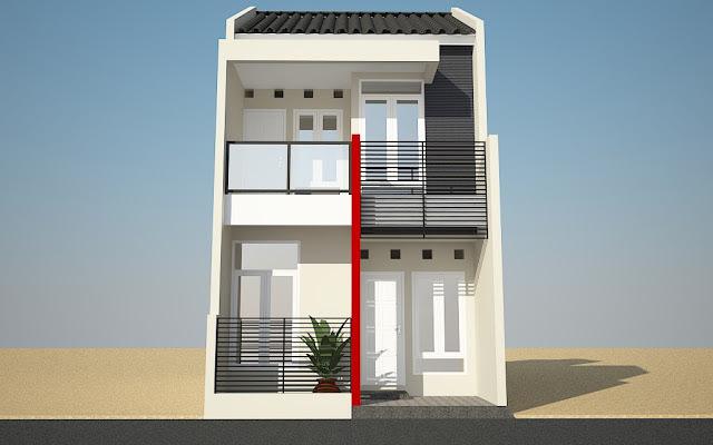Tampak Depan Rumah Minimalis 2 Lantai 7 Desain Rumah