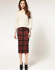 ASOS Pencil Skirt in Check