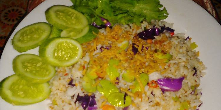 Resep Nasi Goreng Pete Teri Medan Kol Ungu Oleh Mawar MWR_kitchen