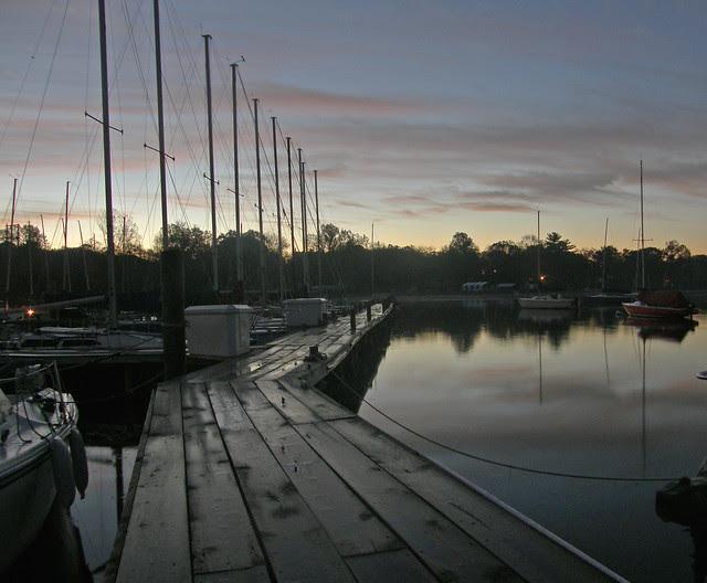 The angled dock