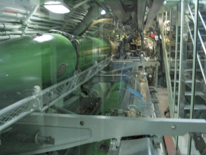 Torpedo tubes on a submarine.