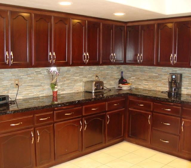 Kitchen Cabinet Staining - Traditional - Kitchen - San ...