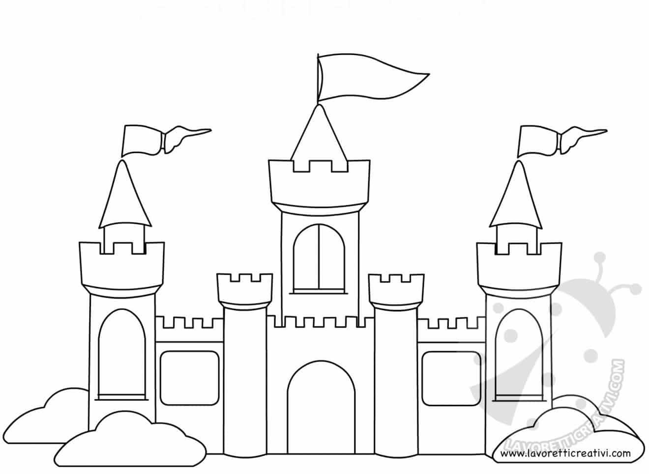 Bella La Bella E La Bestia Disegno Castello Da Colorare Migliori
