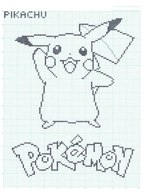 pikachu graph paper ver  flamingsalad  deviantart