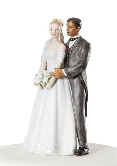 Elegant Interracial Wedding Couple   Wedding Collectibles