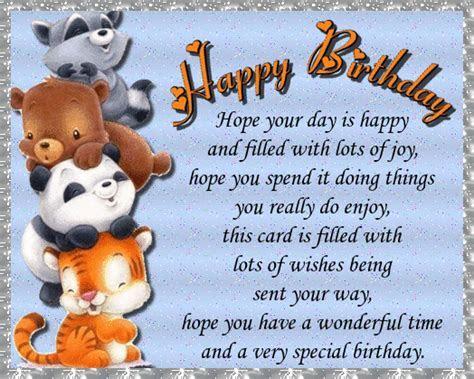 Cute Animal Birthday Wishes. Free Happy Birthday eCards