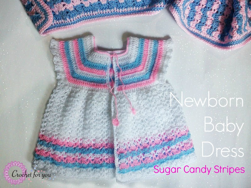 Crochet Newborn Baby dress - free pattern