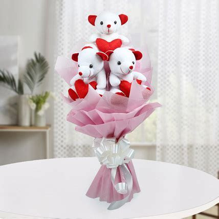 cute bouquet of teddy bear   Flower N Petals