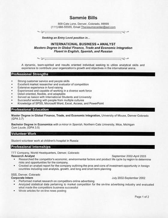 resume for fresh graduate nutritionist  sample resume