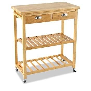 Pas cher meuble chariot de rangement desserte de cuisine - Magasin de cuisine equipee pas cher ...