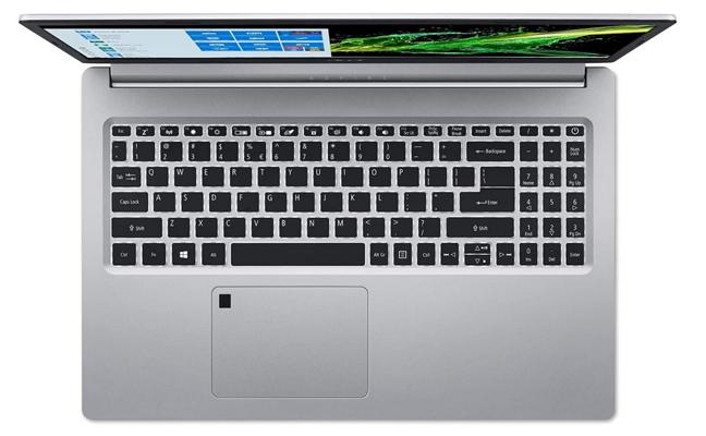 Una computadora portátil con un lector de huellas dactilares
