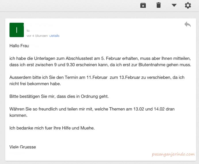 18++ Contoh surat formal bahasa jerman terbaru terbaru