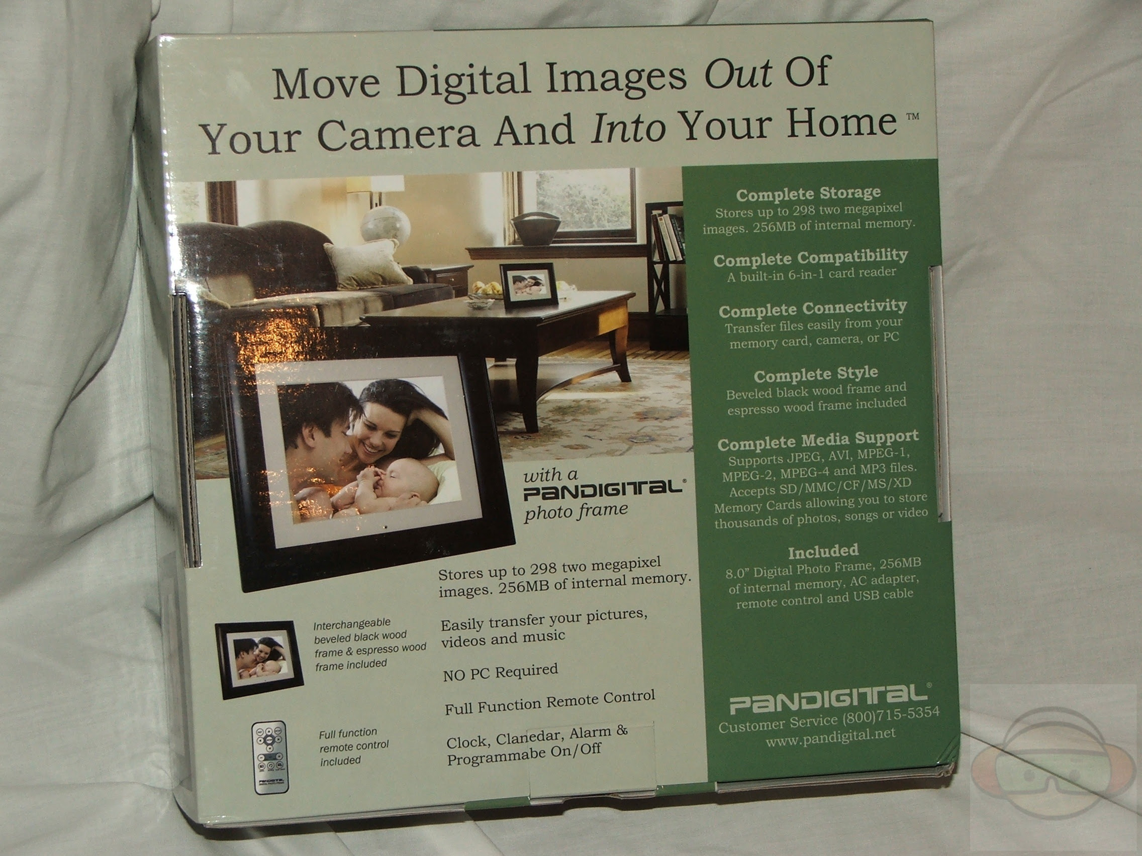 Pandigital 8 Lcd Digital Photo Frame Technogog