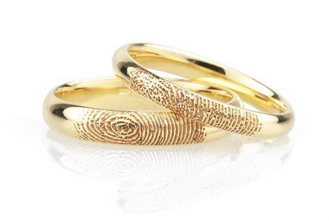 Fingerprint Wedding Rings   Unique Fingerprint Rings in 5