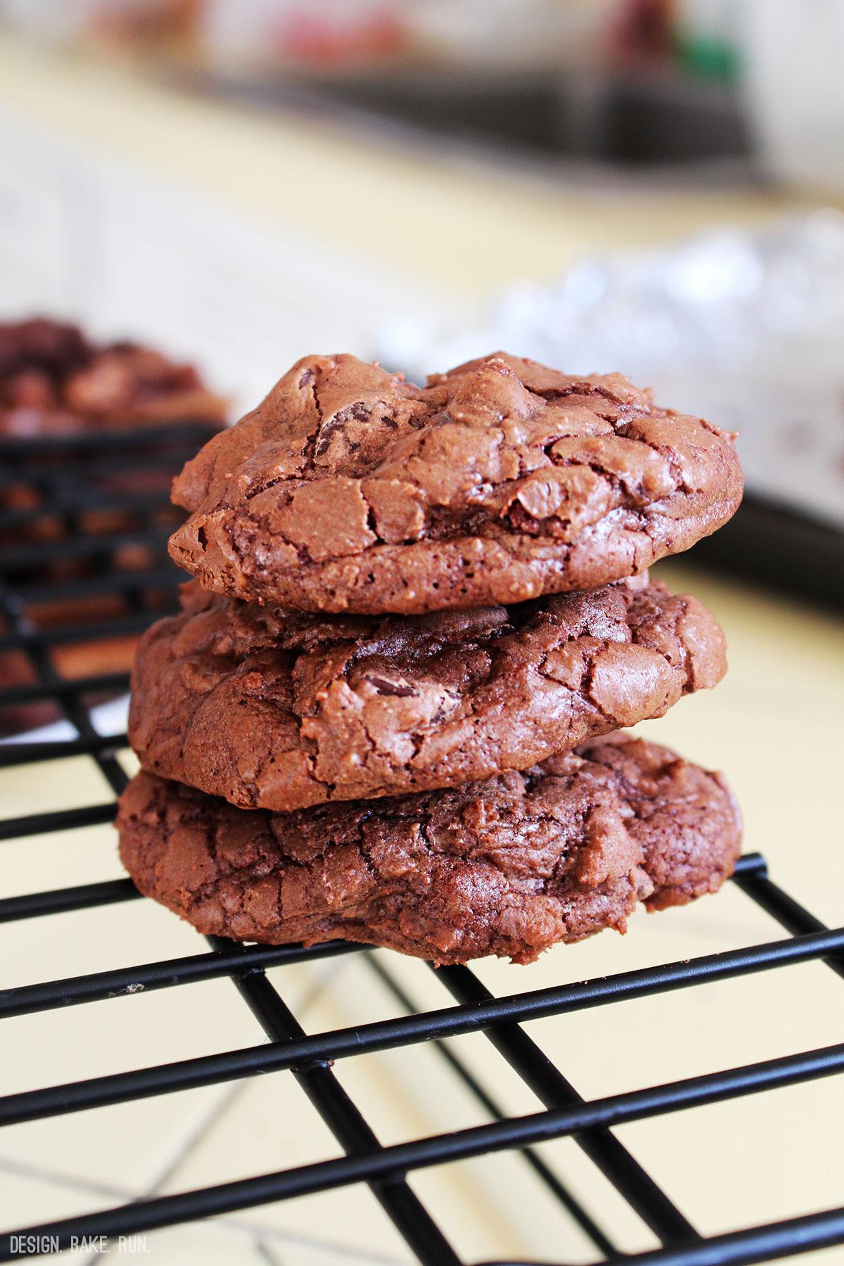 Martha Stewart's Outrageous Chocolate Cookies via design. bake. run.