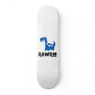 Rawr Dino Blue Skateboard