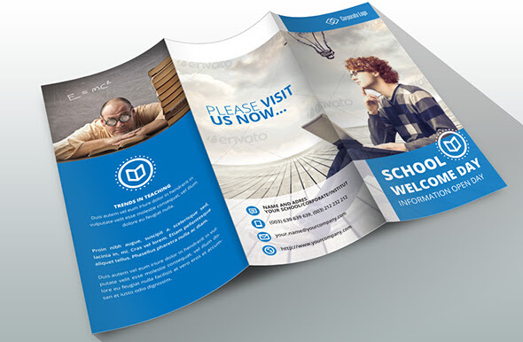 10 Awesome School Brochure Templates Designs