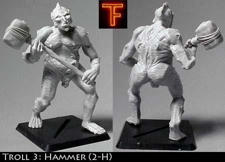 Adult male troll with hammer