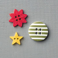 Home for Christmas Designer Buttons by Stampin' Up!