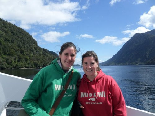 My last favorite place for the day.  This is Doubtful Sound in New Zealand, where my sister and I went three years ago, just a few days after a devastating earthquake in Christchurch. (We're wearing matching sweatshirts because we couldn't ever get back to our bags, since our hotel was right next to the fallen cathedral.) It was so odd to find ourselves in one of the most peaceful places on earth just days after experiencing one of the most chaotic ones, and it was exactly what we needed at the time.  I think of this place often, and I hope to visit it again someday…