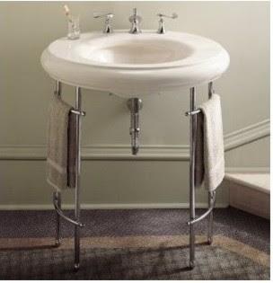 Kohler K-6860 Metal Table Legs - bathroom vanities and sink
