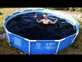 Swimming In Giant 1,500 Gallon Coca-Cola Swimming Pool - Video