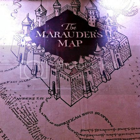 The floor of the second floor, The Marauder's Map printed on lino - The House of MinaLima