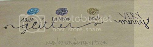 bow arrow art glitter party