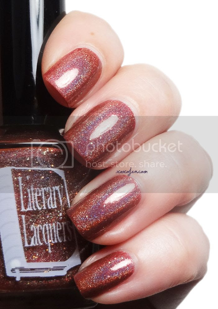 xoxoJen's swatch of Literary Lacquer Rare Book Room