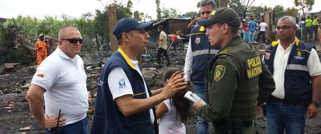 CMGRD y Bomberos atendieron oportunamente incendio en sector subnormal del oriente caleño