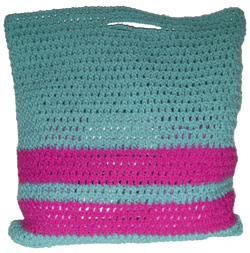 crochet stripe-bag