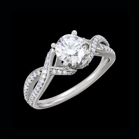 romantic diamond semi mount