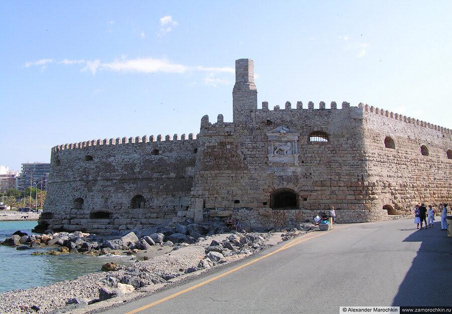 Cтены крепости Кулес в Ираклионе | The walls of the Koules Fortress, Heraklion