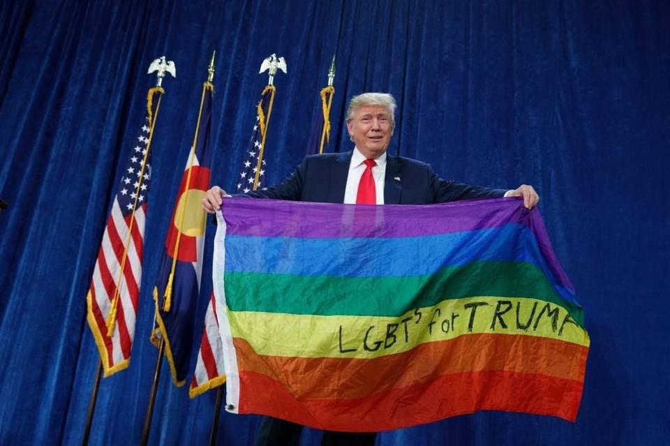 Resultado de imagem para donald trump gay