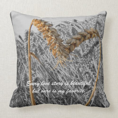 Every Love Story is Beautiful -Love Quote Throw Pi mojo_throwpillow